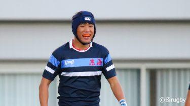 <&rugby注目選手>思いっきり勝負して取り切る。東海大仰星高校3年・大畑亮太選手